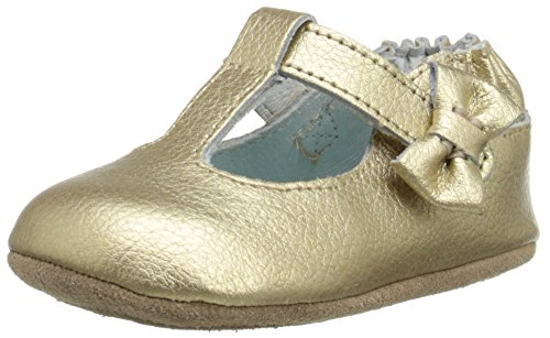 Robeez Glamour Grace Mini Shoe , Gold, 6-9 Months M US Infant