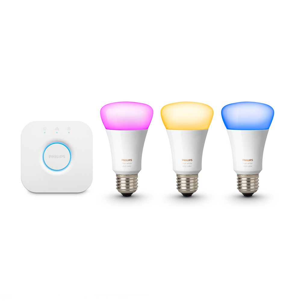 Philips Hue White and Color Ambiance 2nd Generation Smart Bulb Starter Kit (Older Model 3 A19 Bulbs and 1 Hub Works with Alexa Apple HomeKit and Google Assistant) by Philips LED (Image #4)