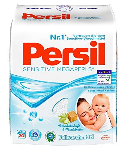 Persil Sensitive Megaperls Waschmittel, Nachfüllbeutel 5er Pack (5 x 20 Waschladungen)