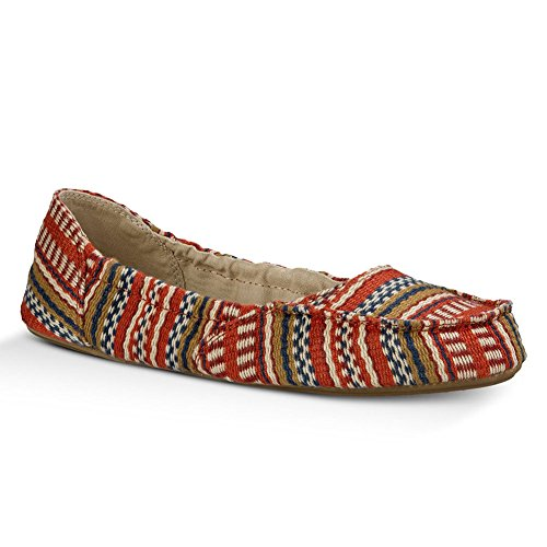 Slip ONS Blanket V Sanuk Burgundy Women's Elle Bayridge Prints Eight HwqXOZ