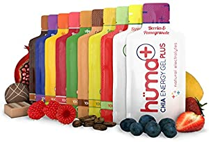 Huma PLUS - Chia Energy Gel - Variety, 4 PLUS and 8 Standard Gels - Premier Sports Nutrition for Endurance Exercise