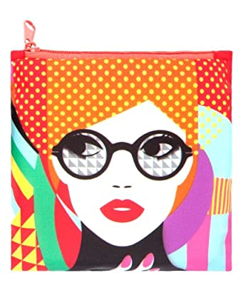 LOQI Pop Girl Reusable Shopping Bag, Multicolor