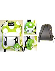 Green Mushroom Full Size School Backpack with Bonus Coin Pouch