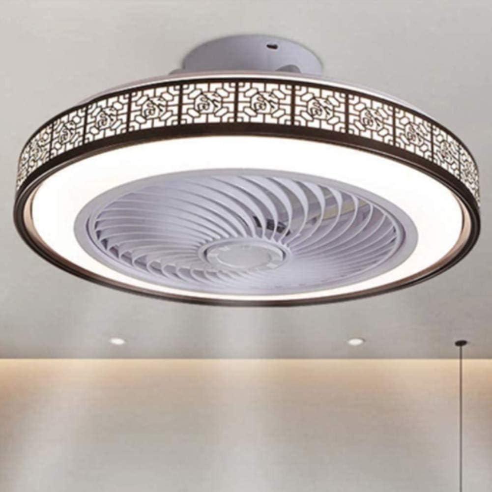 OUJIE Ventilador De Techo con Iluminación, Ventilador De 72W LED con Control Remoto, Ajustable Velocidad del Viento Y De Atenuación, Ultra Silencioso Ventilador De Techo Luz,Marrón