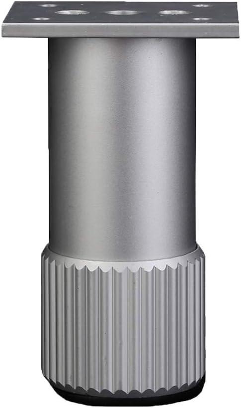 Tappetino in Gomma Resistente allUsura Protegge Il pavimento-60mm WQL Piedini per mobili Regolabili Tavoli da Salotto in Metallo di Ricambio Divani Tavolini Mobile TV 2.4 in