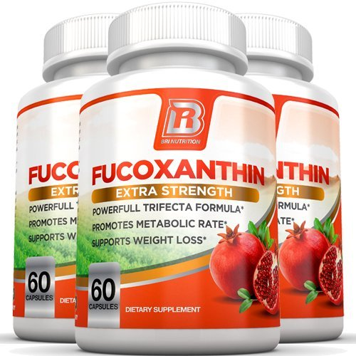 BRI Nutrition Fucoxanthin - Maximum Strength Extract Plus Supplement - 60 Capsules 3-Pack by BRI Nutrition