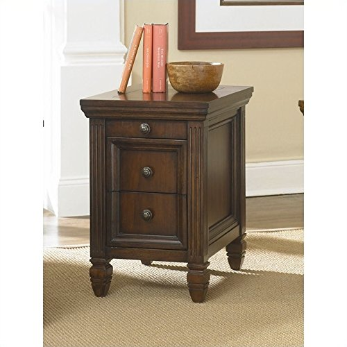 Hammary Hidden Treasures Chairside Table in Cherry Finish (Hammary Cherry)