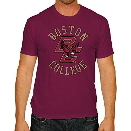 Original Retro Brand NCAA Boston College Eagles Men's Victory Vintage Tee, Medium, Maroon
