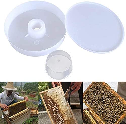 Lanbowo Biene Wasser Futterspender Imkerei Bienenstock Schnell Rund Hive Top Imkerei Liefert Behälter Trink Napf Bienenzucht Ausrüstung