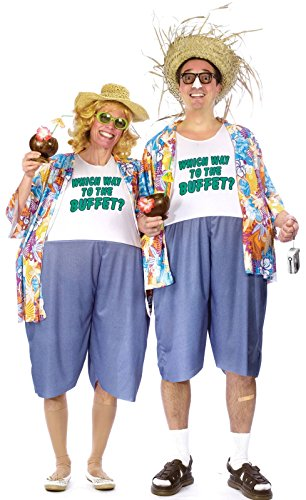 Adult Tacky Traveler Costume - One Costume per package (Costumes For Halloween For Couples)