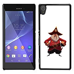 Be-Star Único Patrón Plástico Duro Fundas Cover Cubre Hard Case Cover Para Sony Xperia T3 ( Pirate Captain Hat Skull Belt Beard Grey )