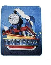 Nemcor Thomas The Tank Throw Blanket for Kids, Soft Warm and Cozy Toddler Blanket for Boys, Blue