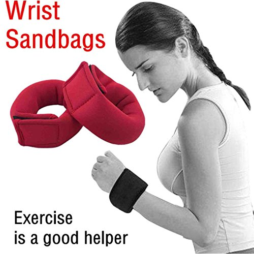 2Pcs Weight Straps For Wrist Or Ankle Fully Adjustable Sandbags Workout by Dreamyth