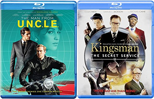 Espionage and Spies 2-Blu Ray Set - Kingsman: The Secret Service & The Man From U.N.C.L.E Double Feature Movie Bundle