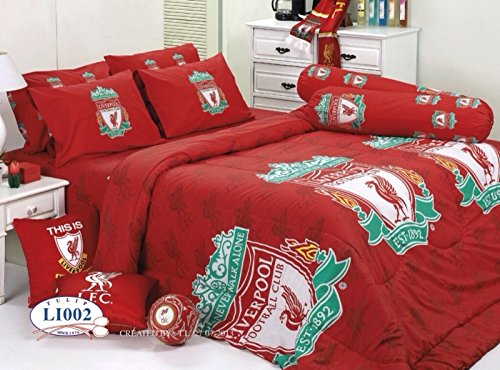 Liverpool Football Club Bedding In Bag Set (Twin Size, LI002); 1 Four Season Comforter with 3 pieces of Bed Fitted Sheet Set by TULIP