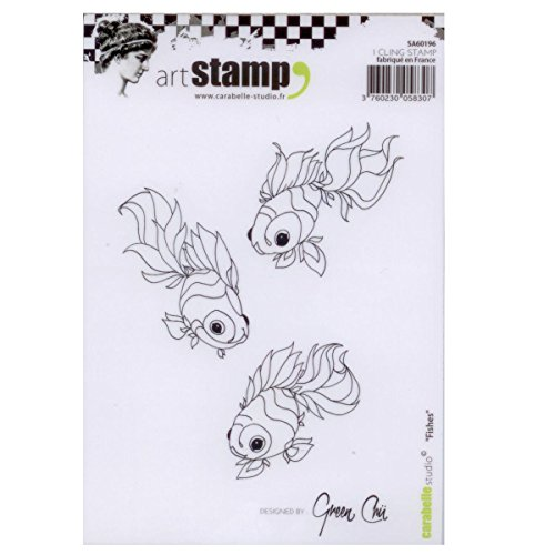 Carabelle Studio A6 Unmounted Stamp Set - Fishes Acrylic Unmounted Stamp Set