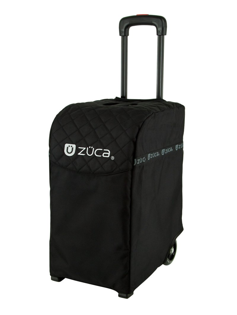 Zuca Black ''Pro Artist'' Rolling Suitcase with Black Frame & Gift Matching Lunchbox and Set of 2 Coffee Mugs by ZUCA