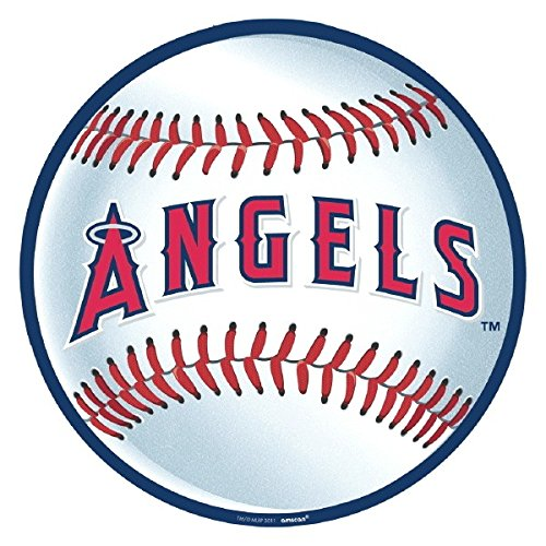 Amscan MLB Los Angeles Angels Laminated Cutouts Decoration, Red/White, 12.75 x 12