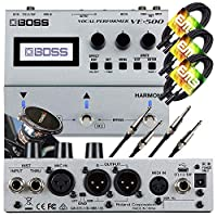 and Stereo XLR Outputs with EMB Magnet Phone Holder and EMB Cable PK3 Bundle 1//4 Instrument in//Through Boss VE-500 Vocal Performer Effects Pedal 32-bit Multi-FX and Vocal Harmonizer Looper
