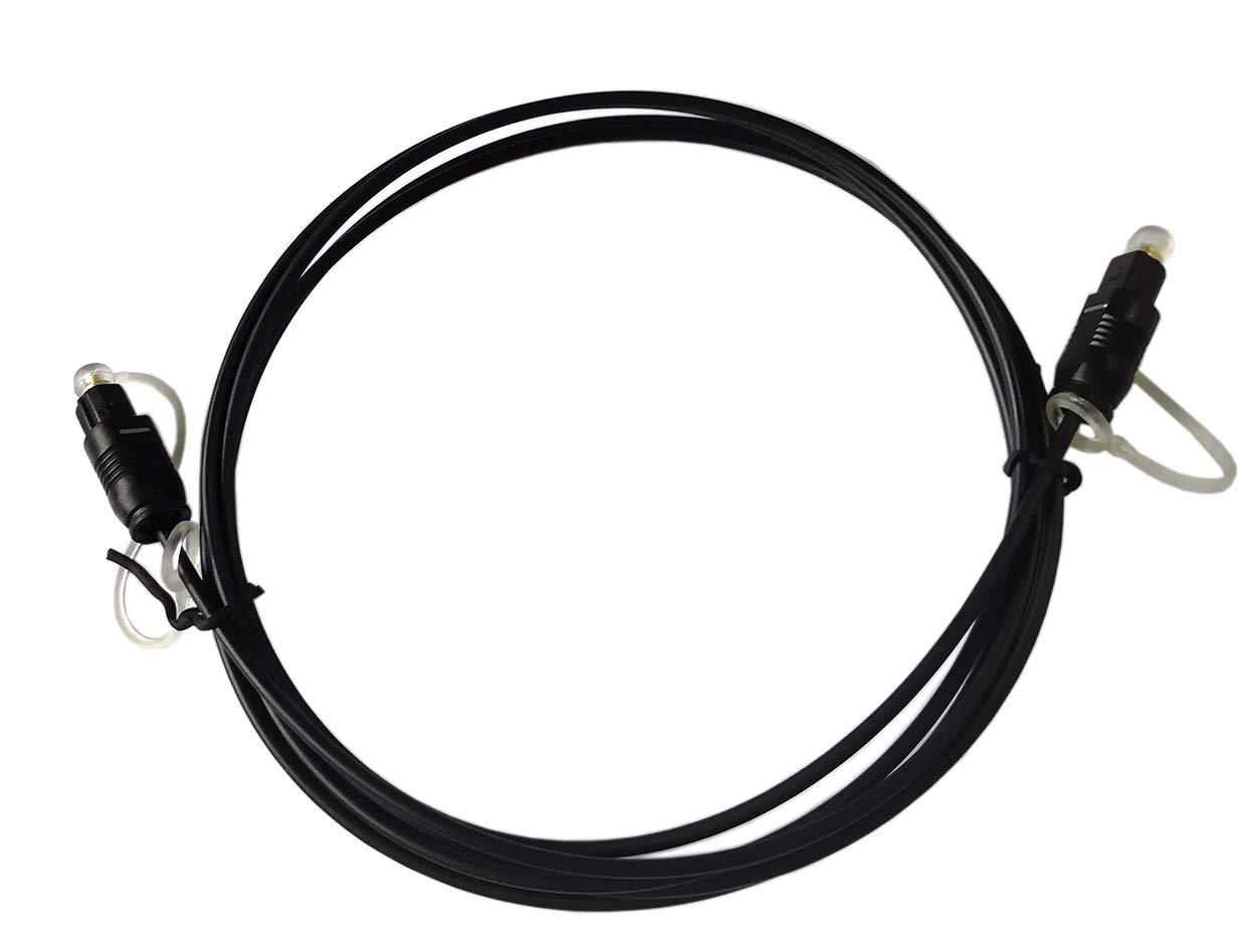 Easyday Cavo ottico Premium Toslink Fiber Optic Cable Digital Audio Optical Cable SPDIF Cord 1.5m 3m 1,5 m Nero
