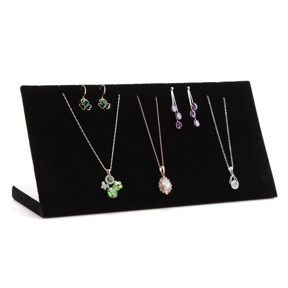Ginasy Chain Board Black Velvet Jewelry Display (Black) JM-10011-Black