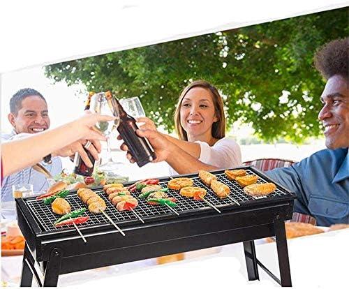 LUCKING Pliant Barbecue en Plein Air Grill Portable Pique-Nique Charbon De Bois Barbecue Stand pour Camping Festival Jardin Pique-Nique Partie