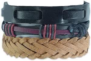 Set of 3 Men bracelet from leather