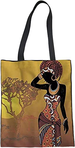 Red Gold African Print Tote bag