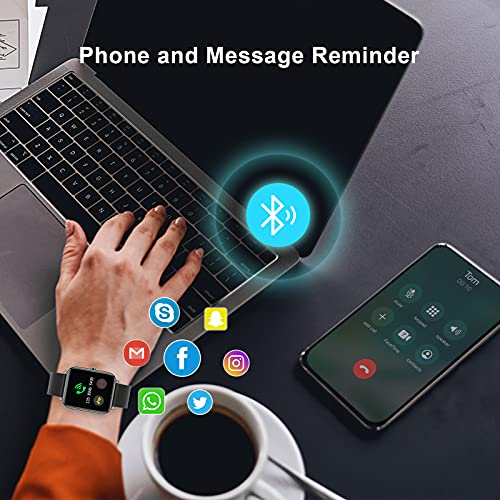 mebossco Smart Watch, IP68 Waterproof Smartwatch, Fitness Tracker with Heart Rate Monitor, Sleep Monitor, 1.4\