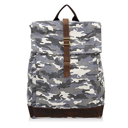 University Magnet Pack (Hynes Eagle Vintage Canvas Backpack Travel Rucksack Fits 15.6 inch laptop Camo)