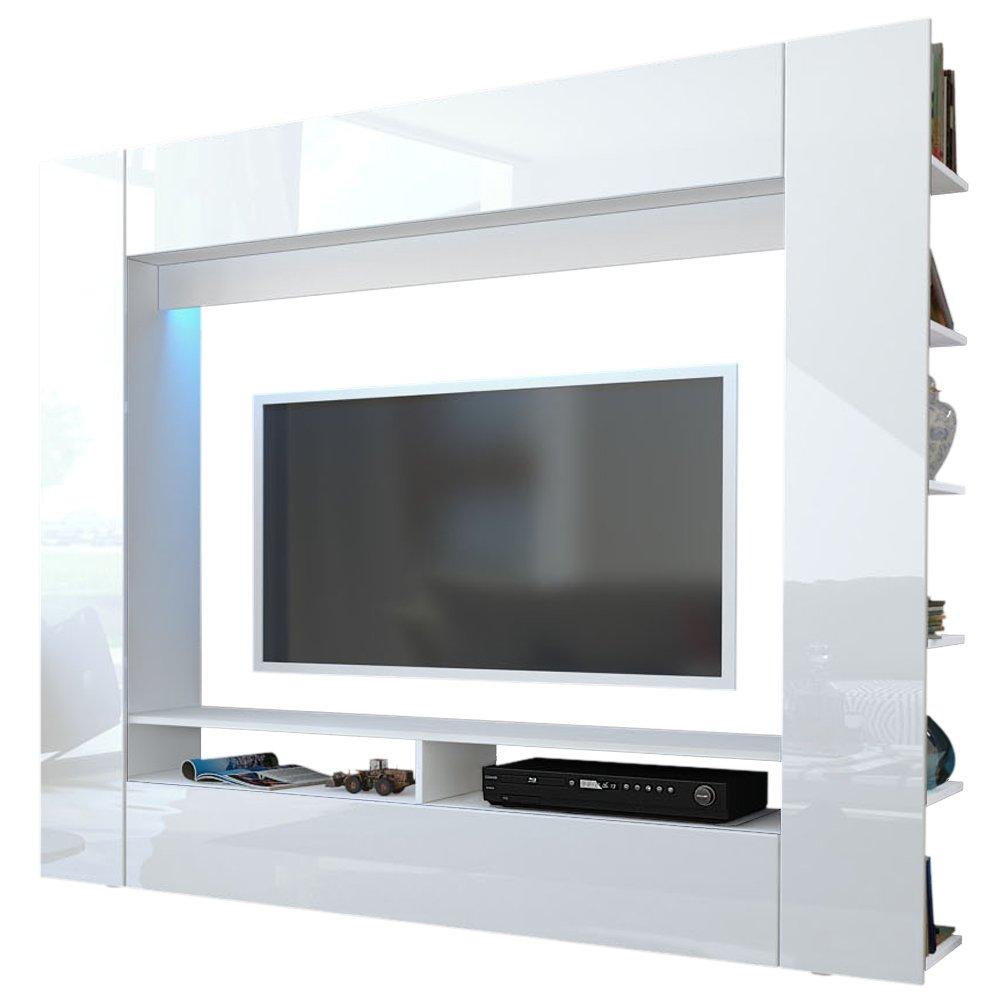 Easyfurn Tv Meubel.Easyfurn Olli Standing Cabinet Unit In High Gloss White Amazon