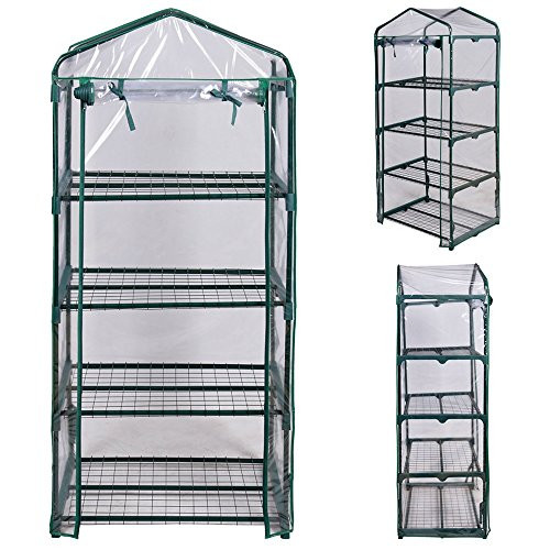 Angelwing mini greenhouse 4 shelves portable frame plans for Portable greenhouse plans