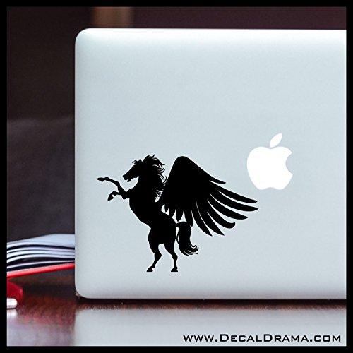 Blackjack Pegasus MEDIUM Vinyl Decal | Percy Jackson Rick Riordan Olympians DemiGod Poseidon Athena Zeus Camp Half-Blood | Cars Trucks Vans Laptops Cups Tumblers Mugs | Made in the USA ()