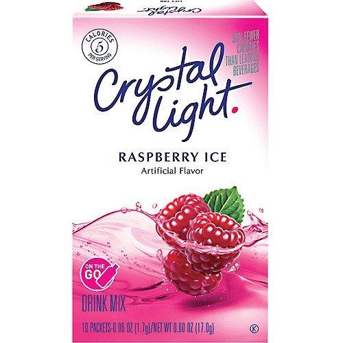 Crystal Light On The Go Raspberry Ice, 10-Packet Boxes (Pack of (Crystal Light On The Go Packets Raspberry Ice)