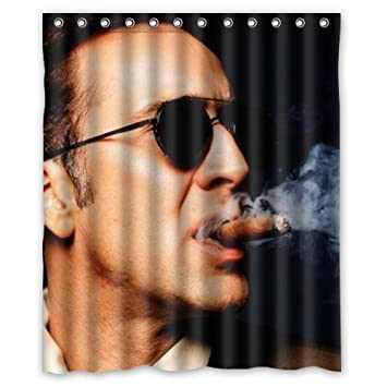 Handsome Man Nicolas Cage Shower Curtain 60x72 Inch By SKCASE