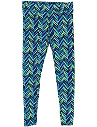 Girls Chevron-Print Leggings (Large)