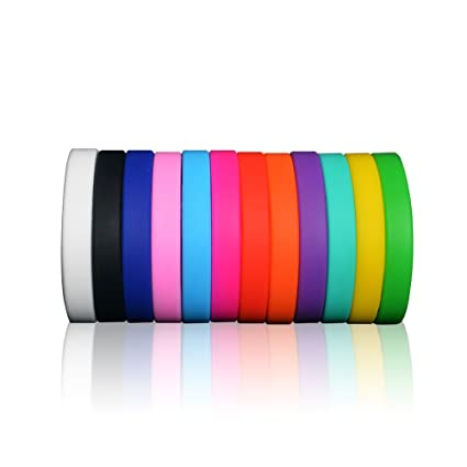 wristbands silicone and blank bands silicon bracelets