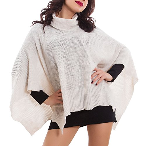 coprispalle Beige AS tricot scialle caldo Poncho donna nuovo Toocool maglia mantella 68112 1wnOSPqg