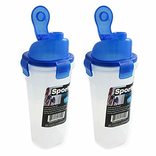 - 2 Portable Sport Water Bottle 21Oz Outdoor Travel Bicycle Bike Cycling Drink Jug