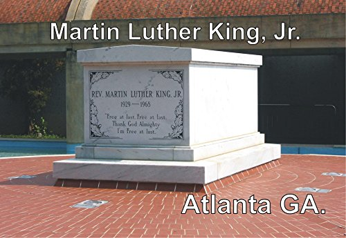 Martin Luther King, Jr. Memorial, Grave Site, Atlanta, Georgia, GA, Souvenir Magnet 2 x 3 Fridge Magnet