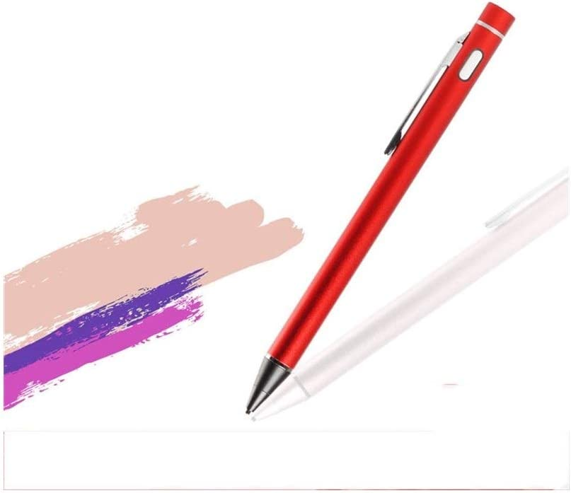Multiple Colors Comfortable to The Touch Tablet Mobile Phone iOS Android Painting Pen Haoyushangmao Active Stylus Color : Red Ultra-fine Head Touch Screen Capacitive Pen