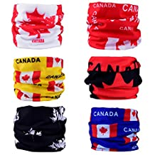 DSRG 6PCS Multifunctional Seamless Headbands Scarf Wrap for Men/Women Headwear for Sports, Headscarves, Bandana Headwrap Scarf Neck Gaiter Turban Face Mask