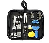 13 Pcs Watch Repair Tool Kit Professional Spring Bar Tool Set Watch Band Link Pin Tool with Carrying Bag