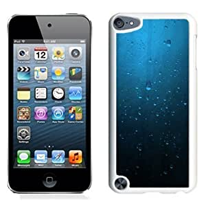 NEW Unique Custom Designed iPod Touch 5 Phone Case With Minimalistic Blue Rain On Window_White Phone Case