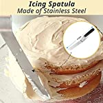 Cake Decorating Supplies 36 Pieces Cake Supplies with Revolving Plastic Turntable, 24 Stainless Steel Decorating Tips, 3 Plastic Scrapers, Icing Spatular, Pastry Bag 23 EVERYTHING NEEDED TO DECORATE CAKE - Cake turntable stand, 24 Stainless Steel icing Tip set, 1 Cake Decorating Turntable 11 inch , 1 Icing Spatula With Sided 11 inch, 1 Reusable Silicone Pastry Bags, 1 Cake Tip Brush,1 Cake Flower Lifter,1 Cake Pen, 3 Cake Scrapers, 1Piping Tip Coupler, 20 Disposable Pastry Bag. A MUST HAVE STAND FOR BAKING LOVERS - Make beautiful cakes with the Growses cake decorating supplies package. The rotating Cake decorating stand help you to easily decorate round cakes and other desserts for birthdays, parties, weddings and other events. The Round Turntable is robust, made from non sticky plastic, non-toxic, dishwasher safe, ideal for beginners as well as for professionals. MORE ICING BAGS FOR USING - 1 pastry bag and 1 disposable pastry bags, perfect for decorating with milti-color cream, Plastic Couplers can be easier to change piping tips.