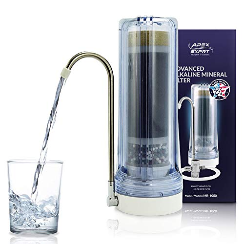 - Apex Countertop Drinking Water Filter, Alkaline, Clear (MR-1050)