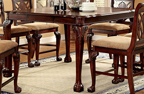 Furniture of America Bonaventure 7-Piece Traditional Style Pub Dining Set