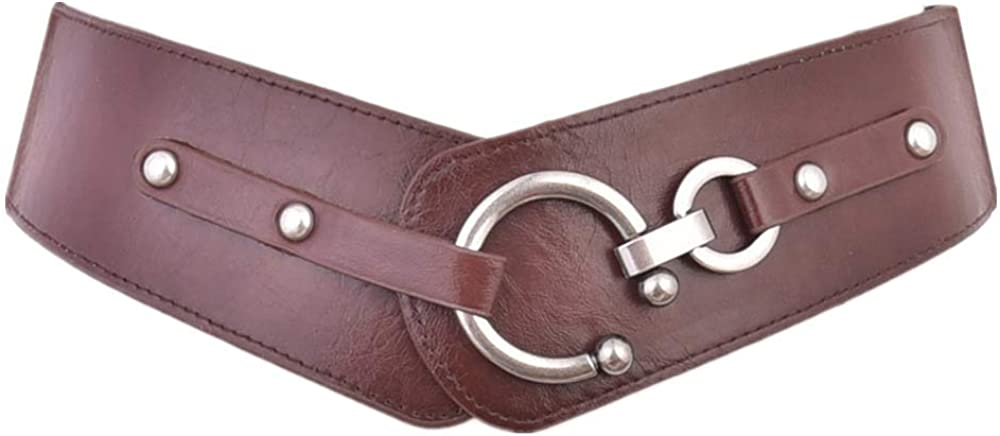 Ladies With Loose Waistbands And Wide Leather Belts Belts