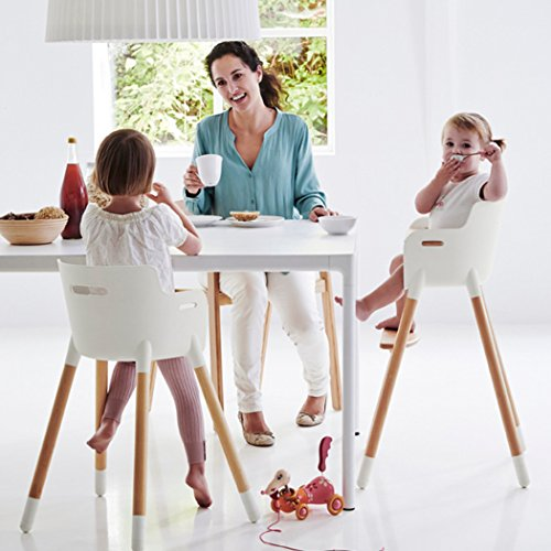 Asunflower Wooden High Chair Adjustable Feeding Baby Highchairs Solution with Tray for Baby/Infants/Toddlers by Asunflower (Image #1)