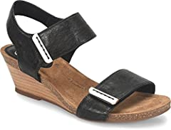 Soft leather and adjustable straps make this an irresistible everyday wedge.